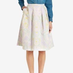 Ted Baker Multicolor Linear Nouveau Skirt